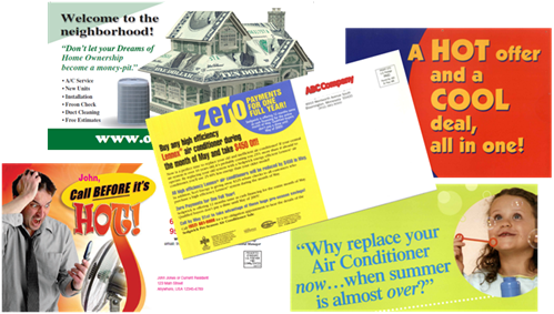 Postcards Direct Mail plus Online Marketing