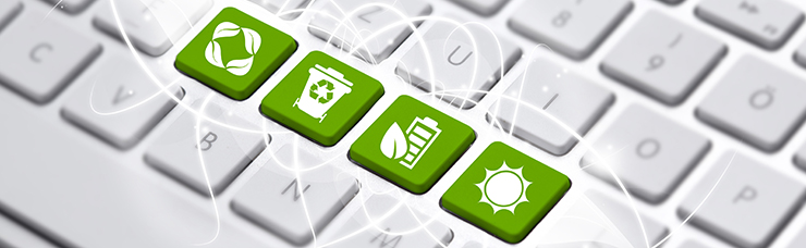 Sustainable Environmentally Eco Friendly Image with Recycling and Green Icons