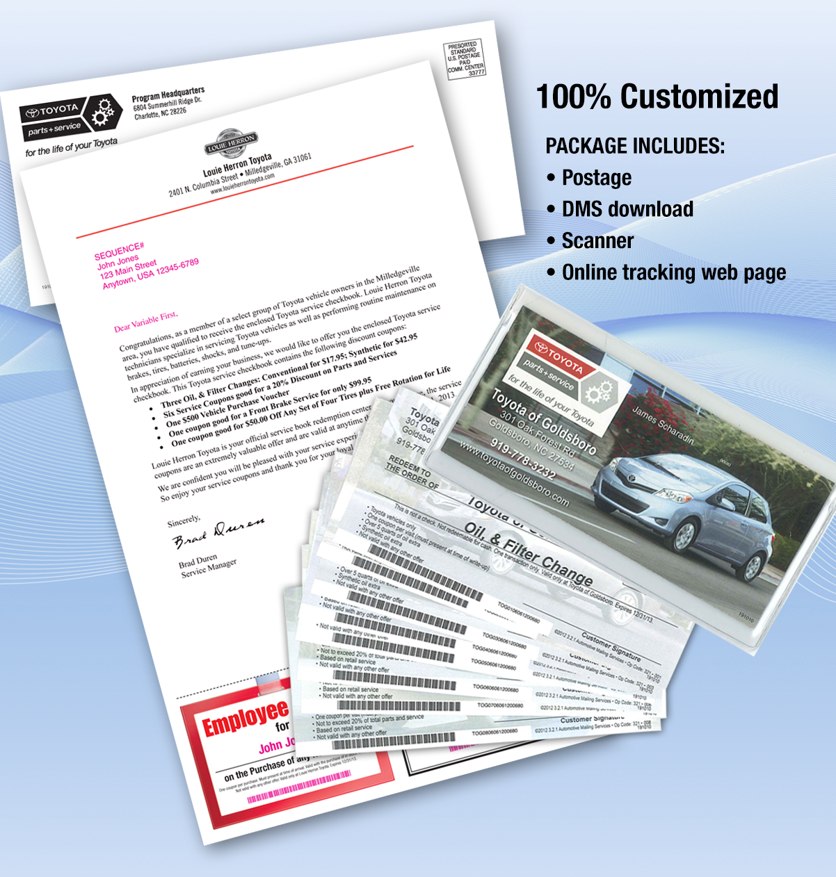 Drive Revenue with direct mail checkbook package