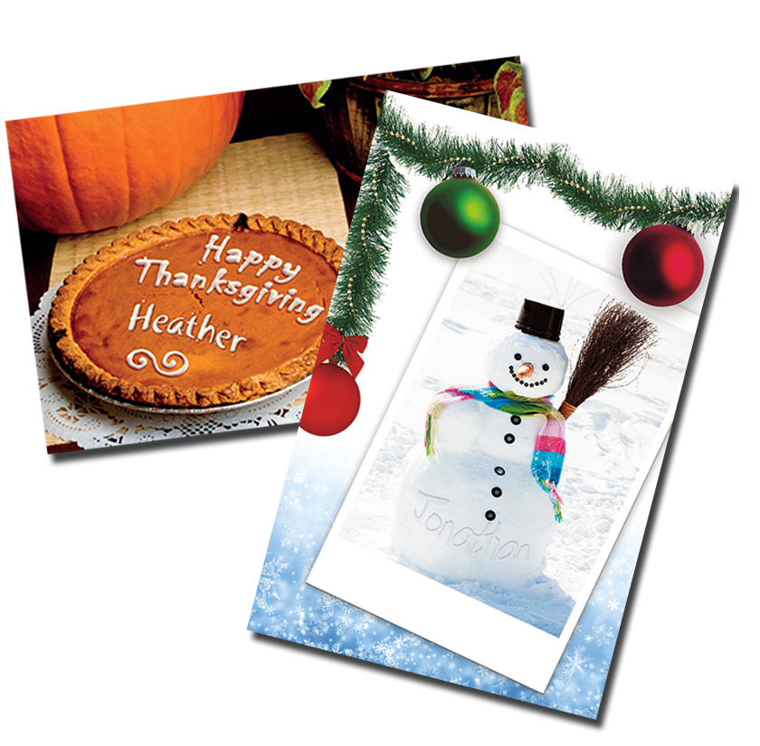 Holiday Uimage Pictoral Text Sample Covers - Autumn direct mail
