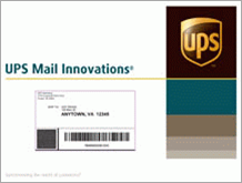 UPS Mail Innovations envelope sample packaging