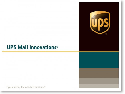 UPS Envelope direct mail envelope sample
