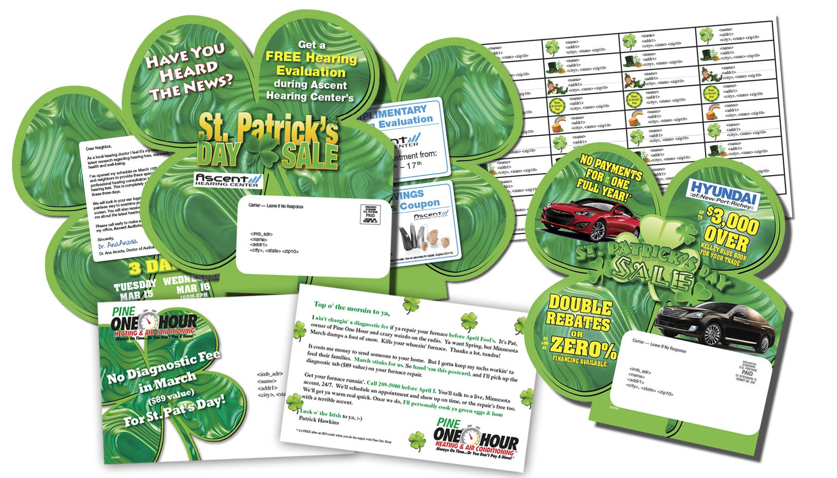 st patricks mailers direct mail sample