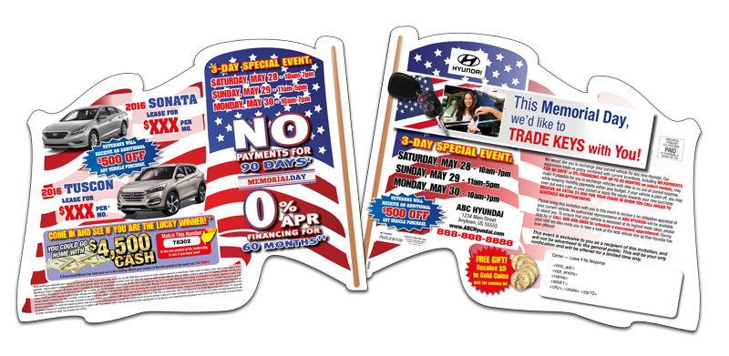 Direct Mail Flag Diecut Mailer Automotive