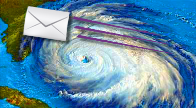 direct mail vs. hurricane season