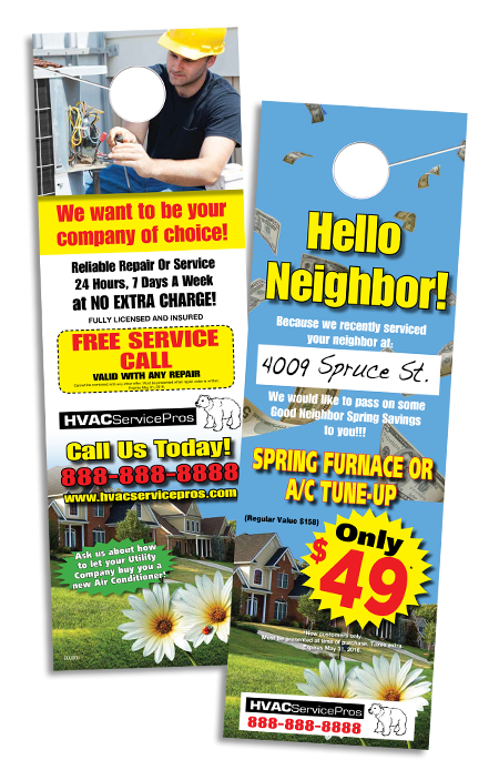 Cost Effective Direct Marketing Door hanger blog image