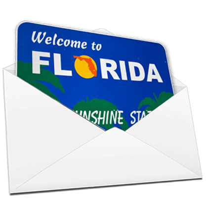 Mailing List Page Image - Florida Direct Mail Sign in Envelope