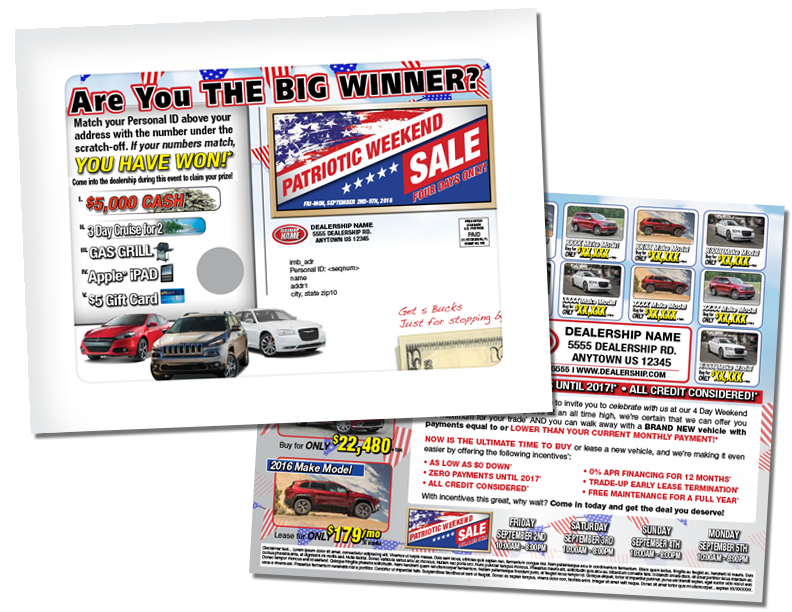 direct mail packages automotive 9x12 - full window envelope