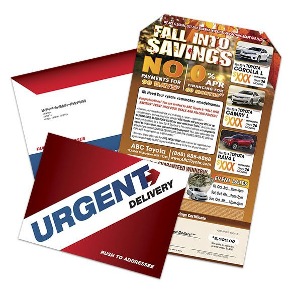 Megalope Fall Mailer - Autumn direct mail