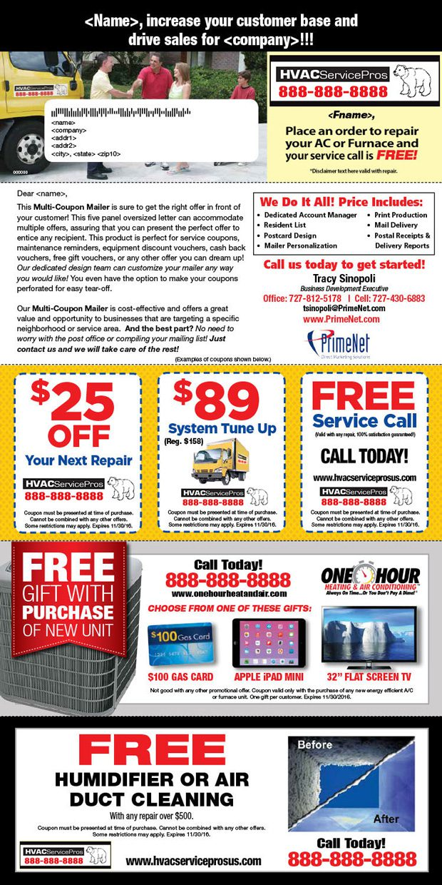 multi-coupon mailers direct mail piece
