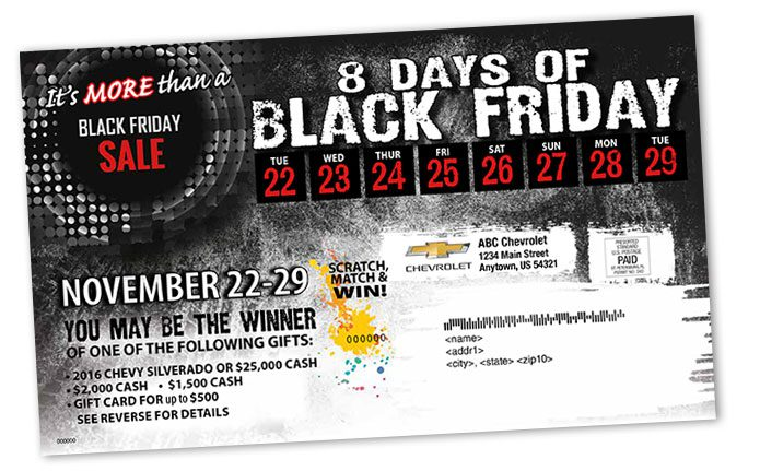 Black Friday Direct Mail Self Mailer - Folded