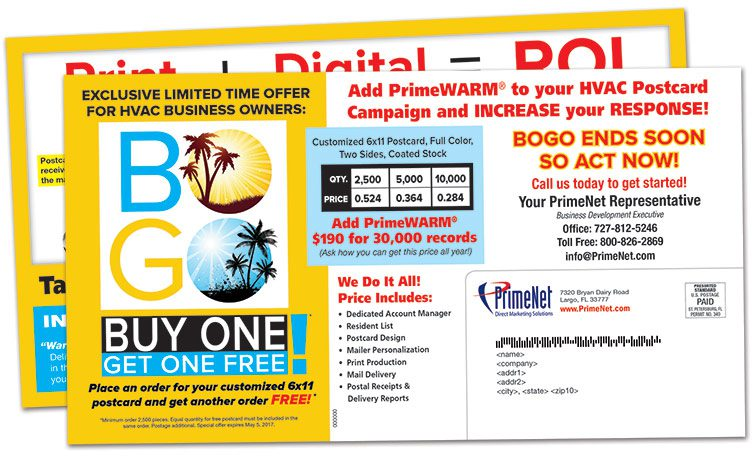 Direct Mail MN, HVAC BOGO PCs
