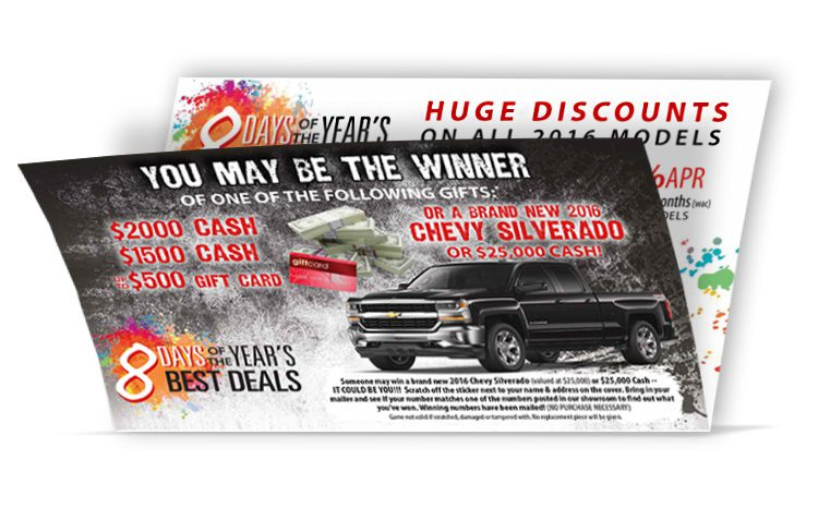 Black Friday Direct Mail Self Mailer - open-view