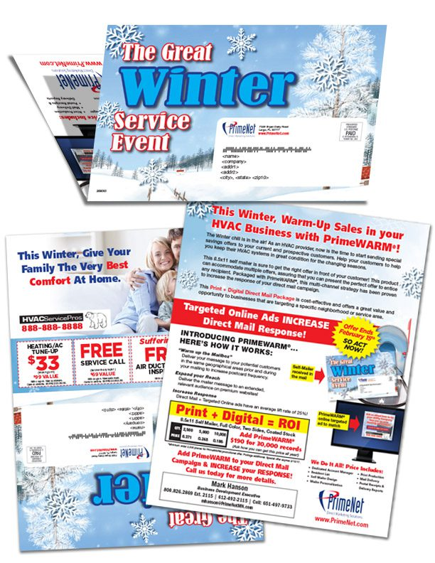 Winter HVAC Direct Mail