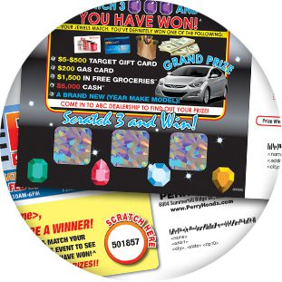 scratch off direct mail add-on