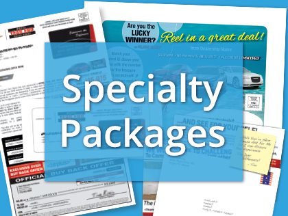 Specialty Mail Advertising Packages