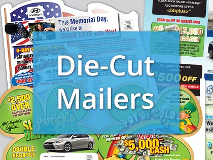 fl direct mail product die-cut mailers