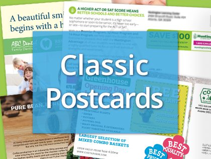 classic direct mail postcards