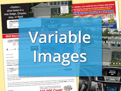 variable image mailers