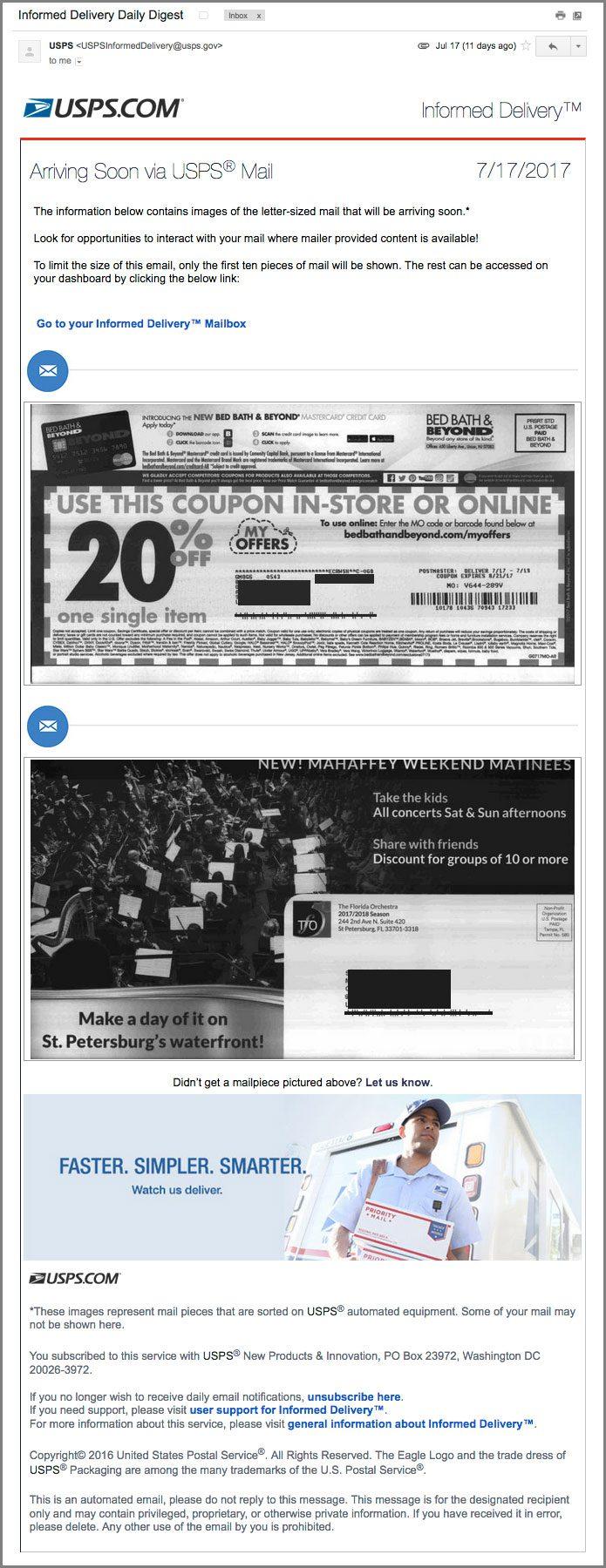Good Informed Delivery Direct Mail Design