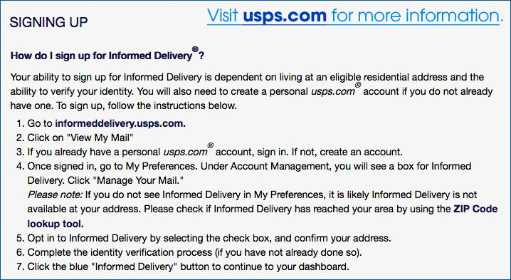 How to sign up to get mail images with Informed Delivery™