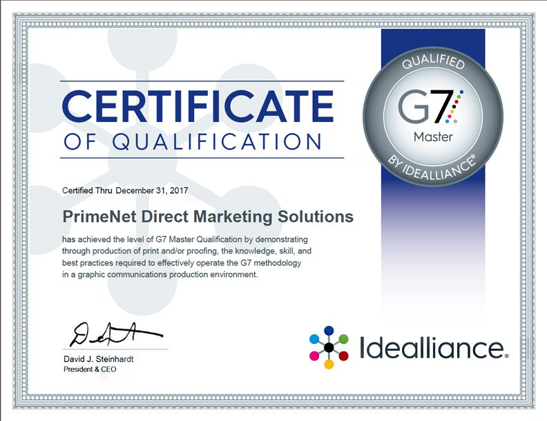 G7 2017 Master Qualified Printer
