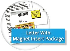 Direct Mail Letter w Magnet Insert Package