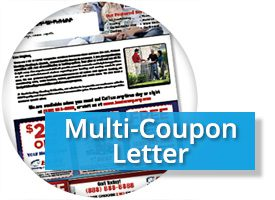 Direct Mail Letter w Multi Coupon