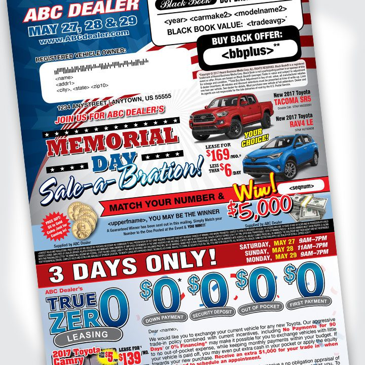memorial day letter advertising mail