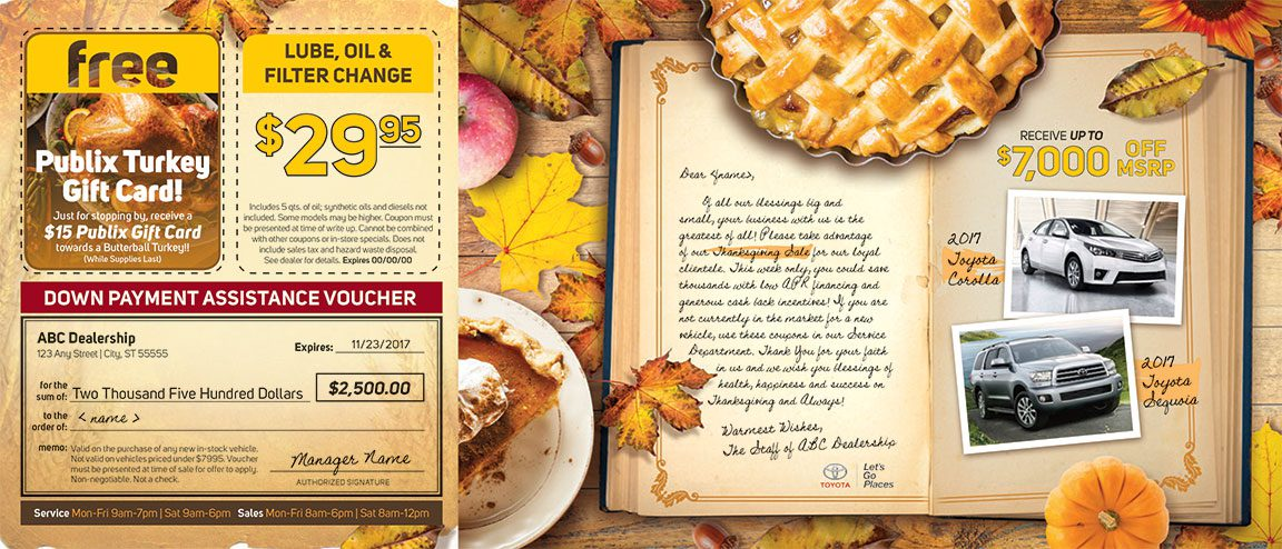Thanksgiving Mailer Ideas