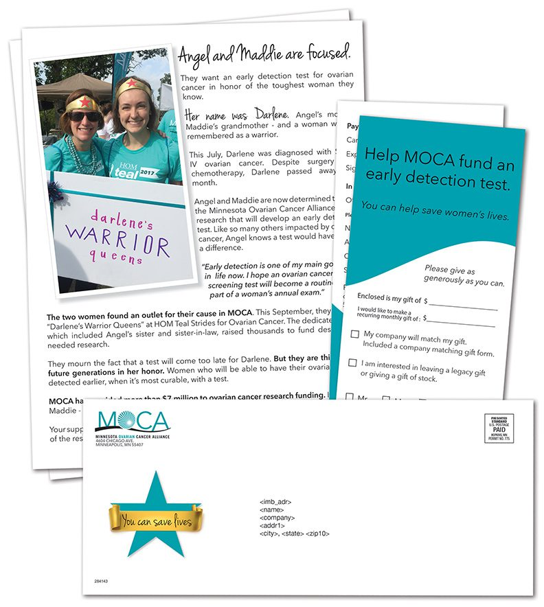 MOCA 2017 Minnesota Ovarian Cancer Alliance Fund Raiser Mailing