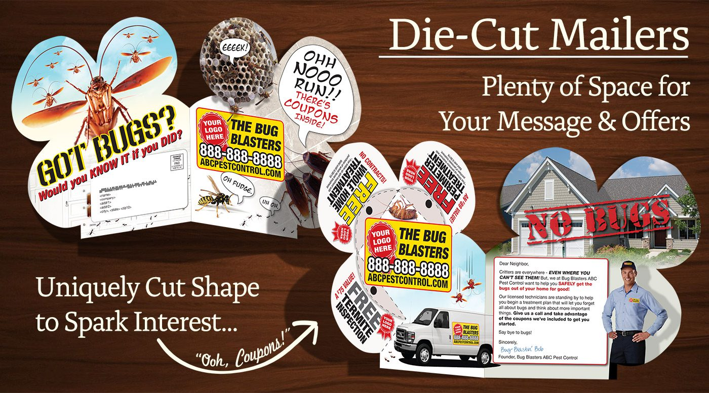 Unique Direct Mail Idea Die-Cut Shape