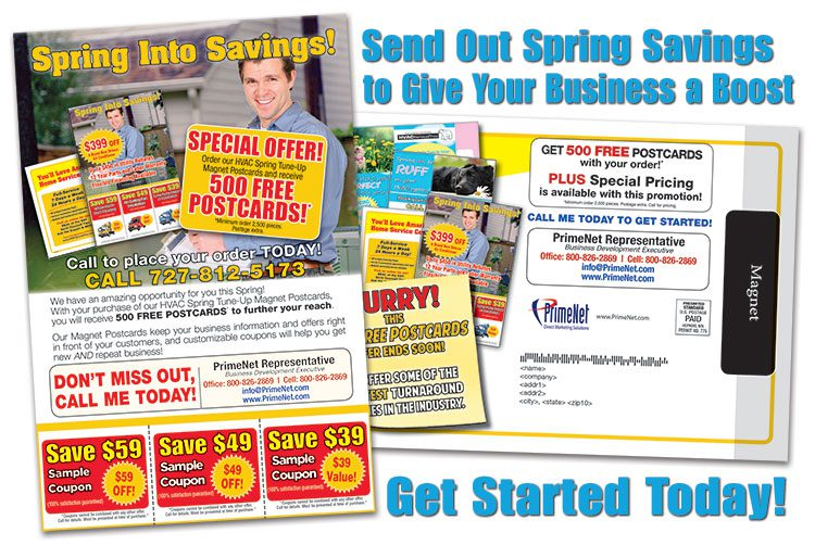 HVAC Spring Magnet Postcard Offers