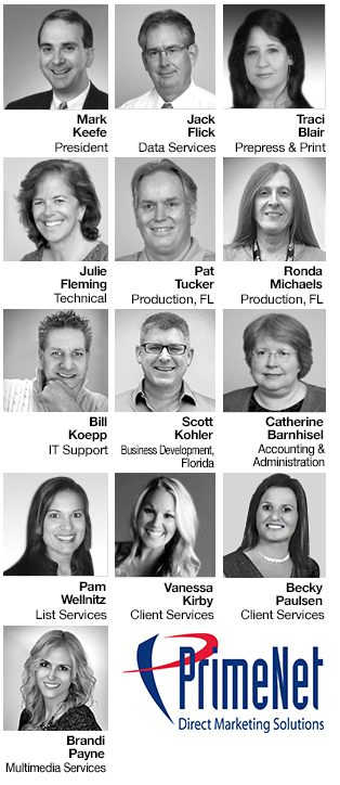 Direct mail FL, MN Contributors