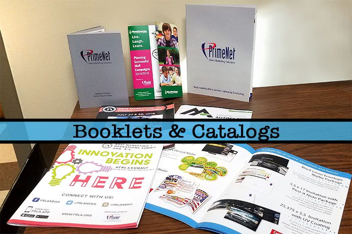 Booklets and catalogs printer direct mail