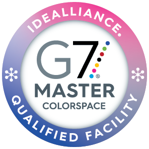 g7 master colorspace for commercial printing compliance logo