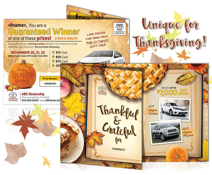 Direct Mail Fall Postcard
