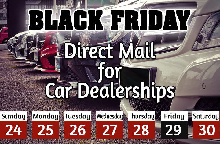 Car dealer direct mail, black friday automotive