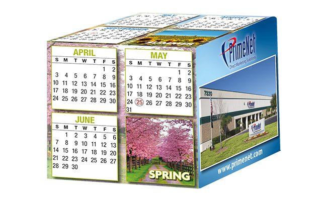 calendar cube, 3D calendar, promotional calendar