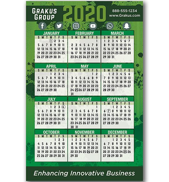 wall calendar, customized promotional calendar