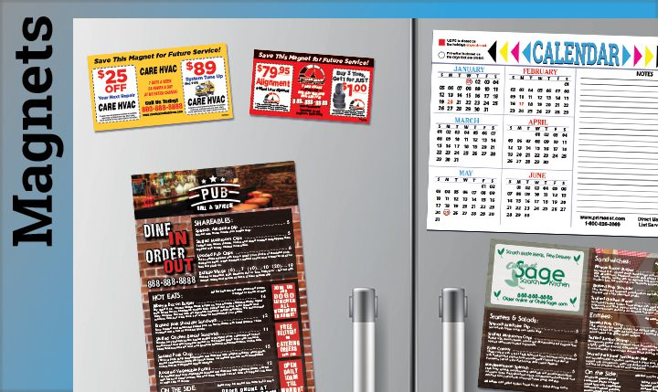 Magnet direct mail add-ons, fridge magnet, business card magnet