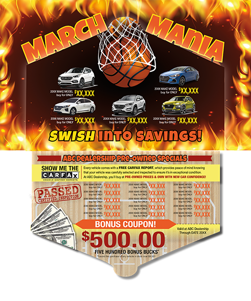 March Mania Postcard, Markdown Madness Auto