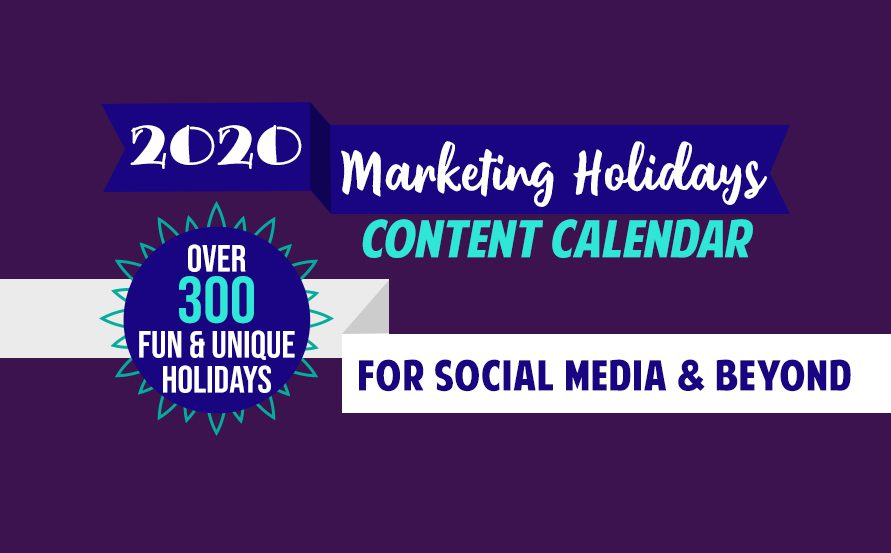 Content Calendar, fun unique holidays, social media content