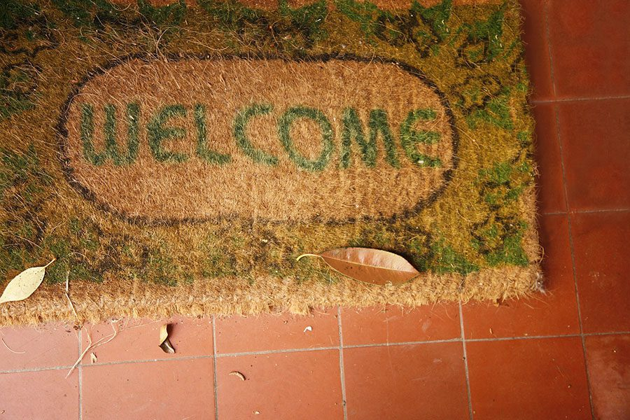welcome mat mailing lists in the door blog image