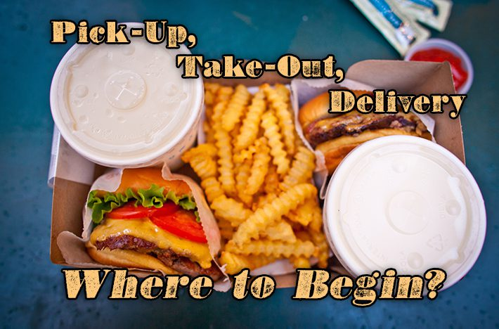 pick-up, take-out, food delivery