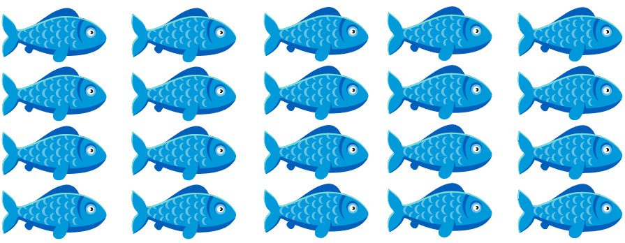 duplicate data direct mail blog fish image blue