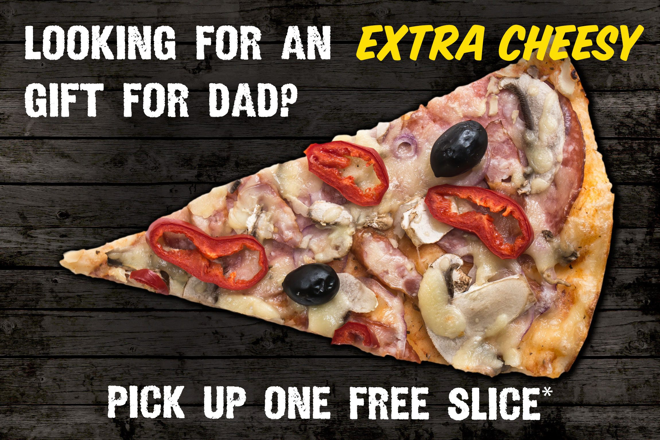 Father's Day Marketing, Pizza Ad, Dad Joke